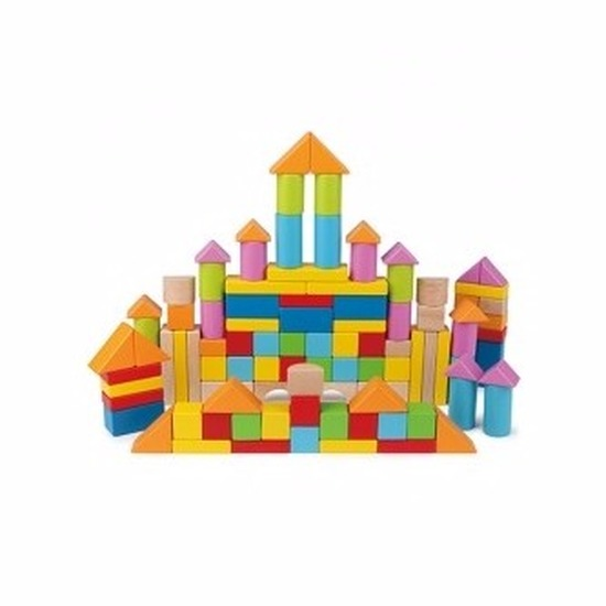 Houten bouwstenen 101 delig