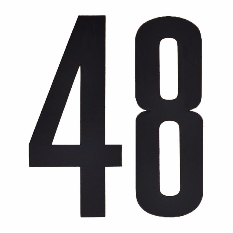 Hobby Cijfers en letters Huisvuil containerstickers cijfer 48 10 cm