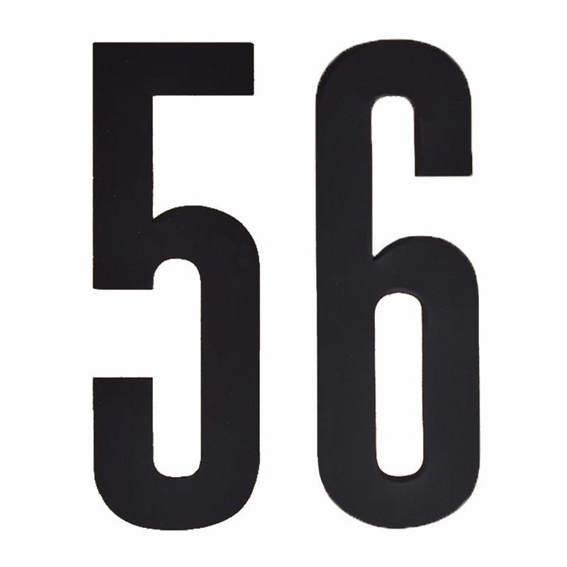Geen Huisvuil containerstickers cijfer 56 10 cm Hobby Cijfers en letters