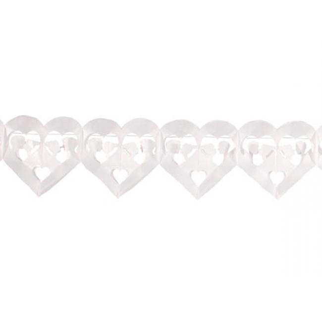 Huwelijk slinger met hartjes