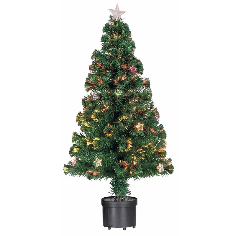 kerstboompje met versiering en verlichting 90 cm