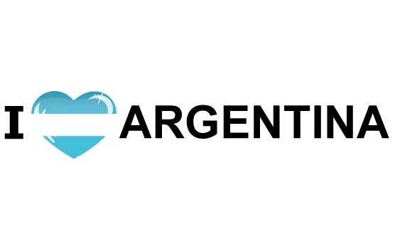 Koffer stickers I Love Argentinie Shoppartners Landen versiering en vlaggen