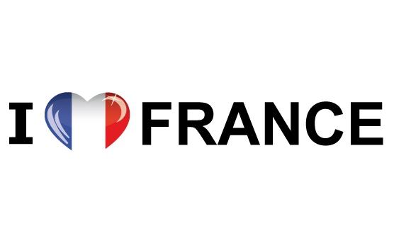 Shoppartners Koffer stickers I Love France Landen versiering en vlaggen