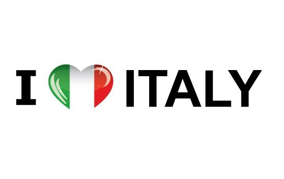 Koffer stickers I Love Italy Shoppartners Landen versiering en vlaggen