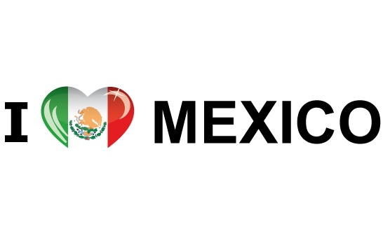 Landen versiering en vlaggen Shoppartners Koffer stickers I Love Mexico