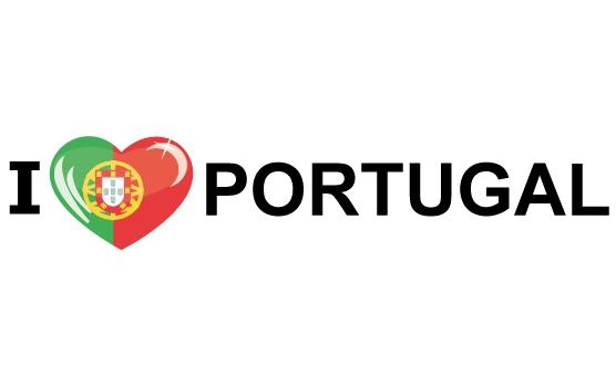 Landen versiering en vlaggen Shoppartners Koffer stickers I Love Portugal