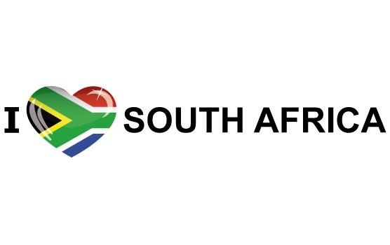 Landen versiering en vlaggen Koffer stickers I Love South Africa