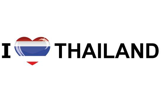 Landen versiering en vlaggen Koffer stickers I Love Thailand