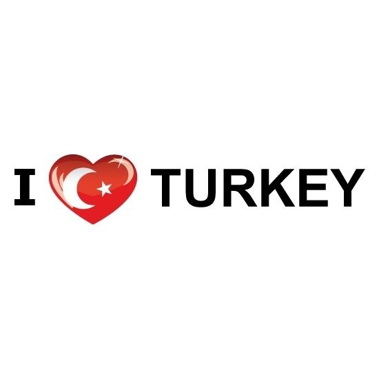 Shoppartners Koffer stickers I Love Turkije Landen versiering en vlaggen