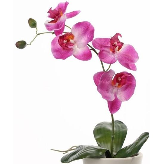 Kunst Orchidee roze 44 cm