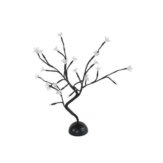 Lichtgevend boompje met bloesem wit