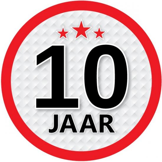 Luxe 10 jaar stickers Shoppartners te koop