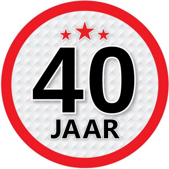 Luxe 40 jaar stickers Shoppartners Koopje