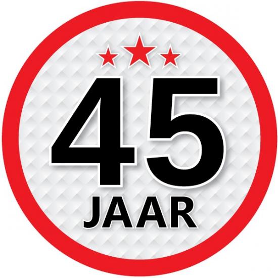 Leeftijd feestartikelen Luxe 45 jaar stickers