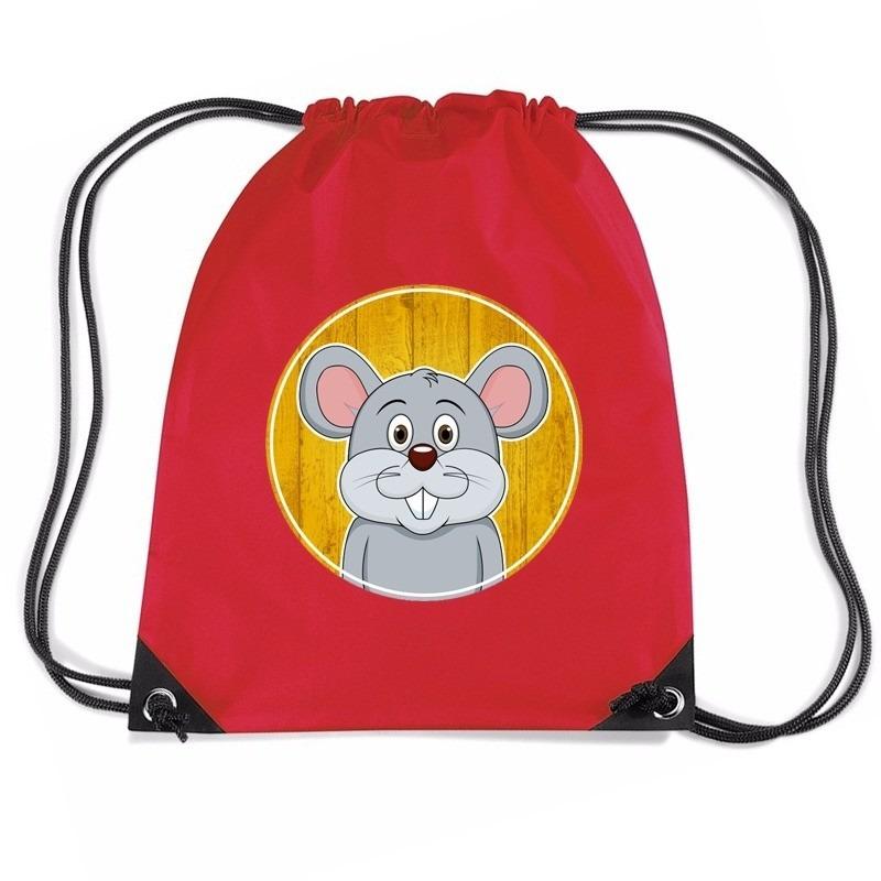 Muizen rugtas / gymtas rood voor kinderen