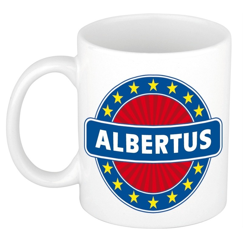 Naamartikelen Albertus mok / beker keramiek 300 ml