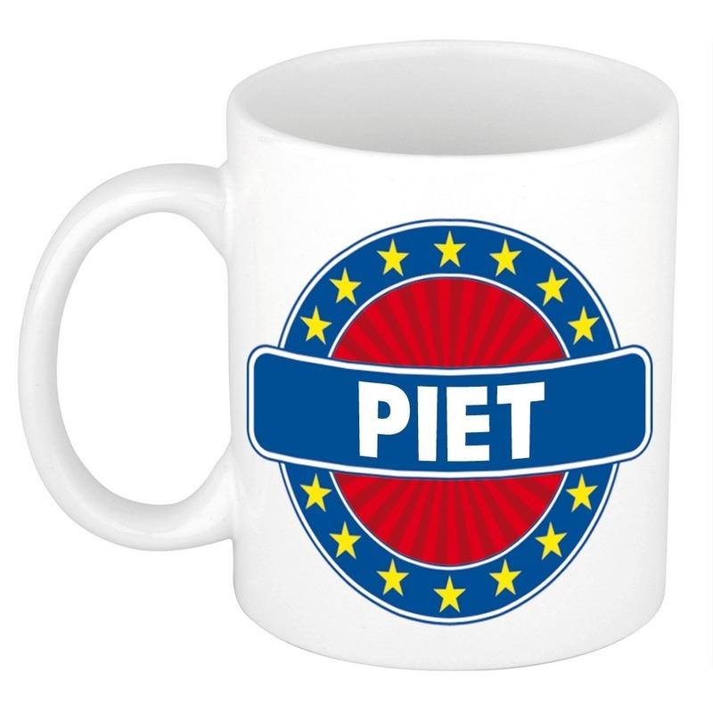 Naamartikelen Piet mok / beker keramiek 300 ml