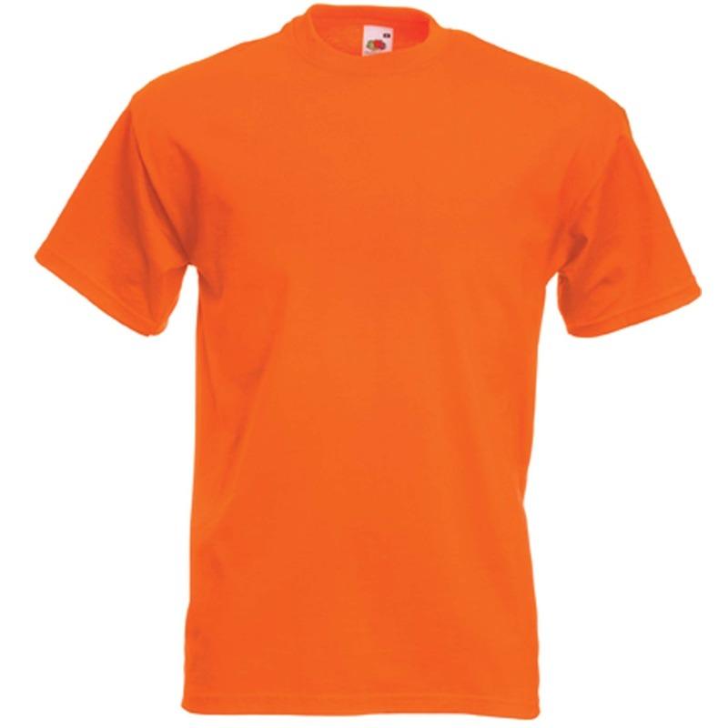 Oranje t-shirts met korte mouwen voor heren
