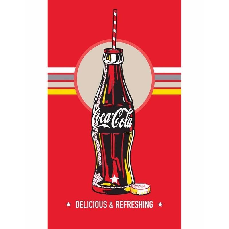 Originele Coca Cola strandhanddoek 70 x 120 cm