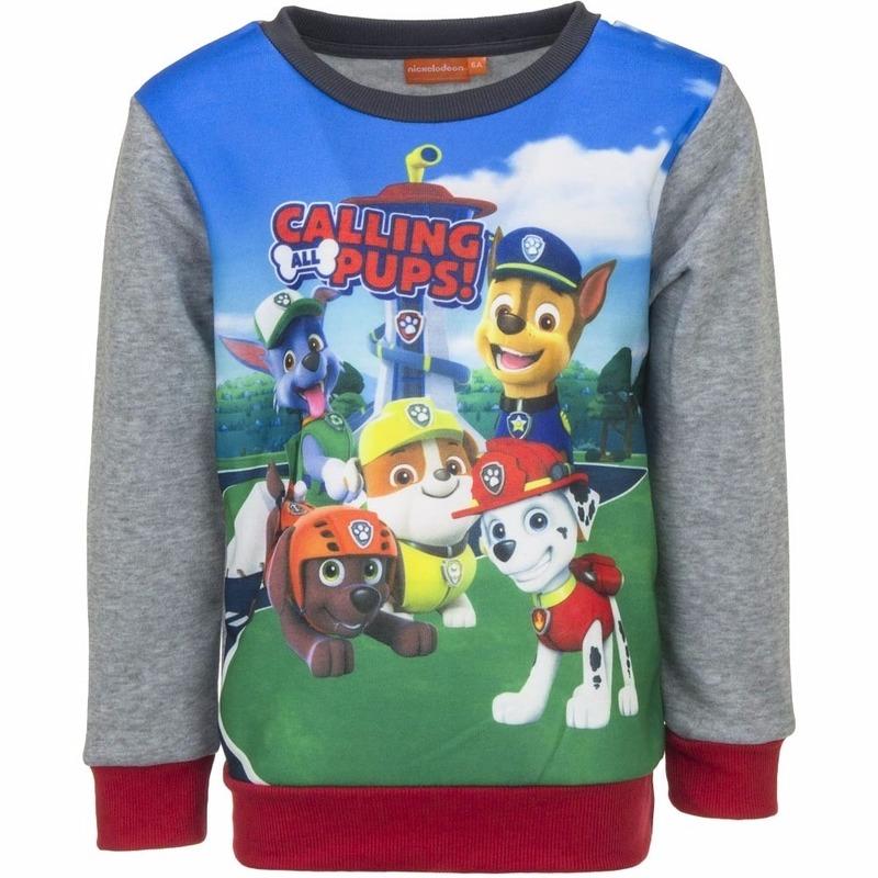 Paw Patrol sweaters met grijze mouwen