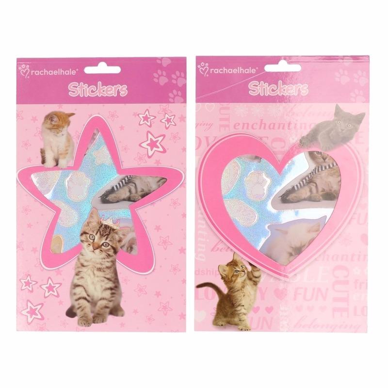 Dieren sticker boekje met 4 bladzijdes vol met stickers van schattige kittens! formaat: ongeveer 24 x 15 cm. ...
