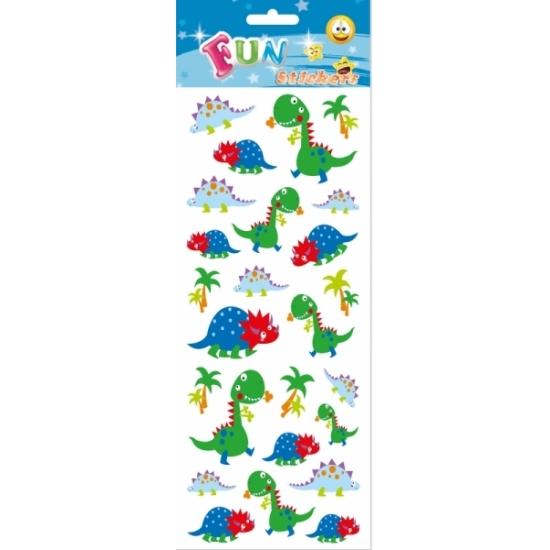 Schoolspullen Geen Poezie album stickers dinosaurus