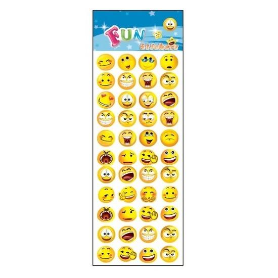 Poezie album stickers emoticon smiley gezichtjes Geen Schoolspullen