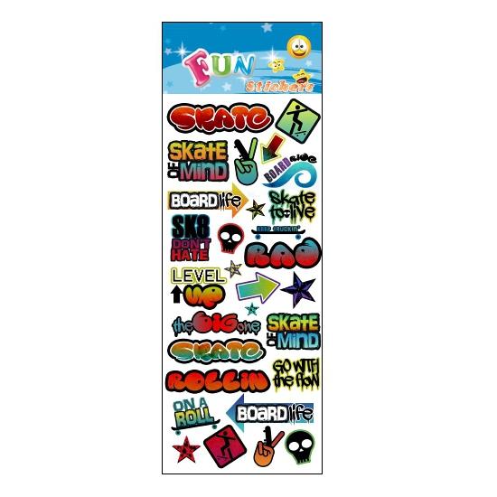 Schoolspullen Geen Poezie album stickers graffiti theme