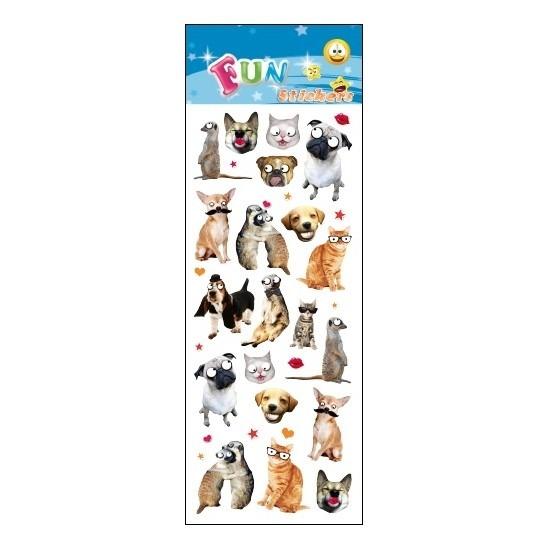 Poezie album stickers grappige dieren Geen te koop