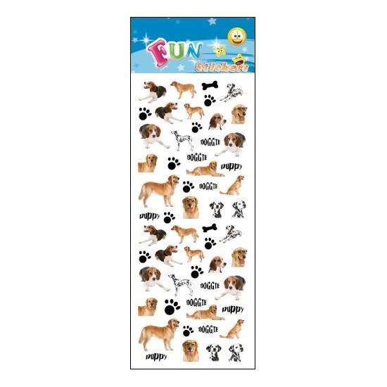 Schoolspullen Geen Poezie album stickers hondjes