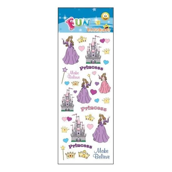 Poezie album stickers prinses en kasteel Geen Schoolspullen