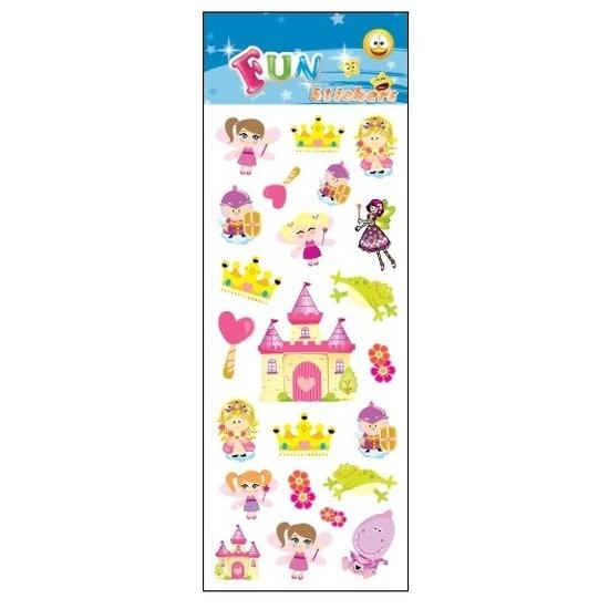 Schoolspullen Geen Poezie album stickers prinses