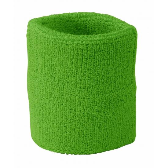 Pols zweetbandjes lime groen