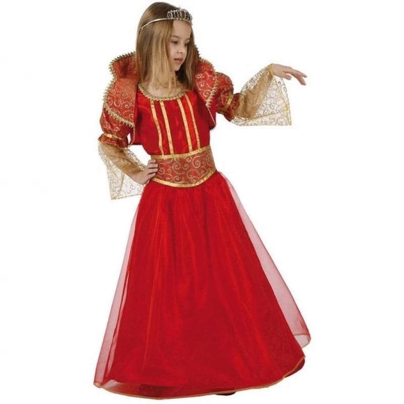 Rode koninginnen verkleedjurk voor meisjes