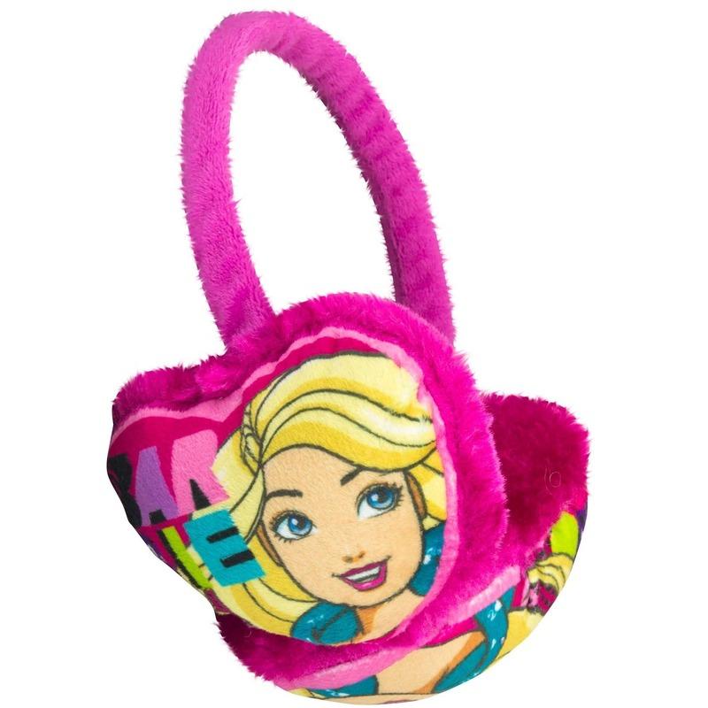Roze Barbie oor warmers voor meisjes
