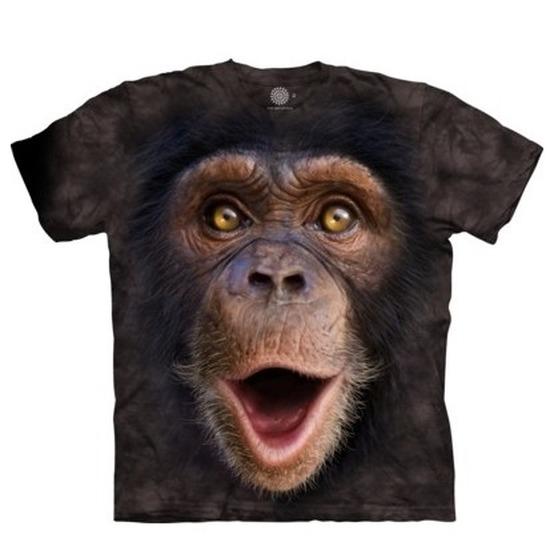 Safari dieren shirts Chimpansee jonge aap voor volwassenen