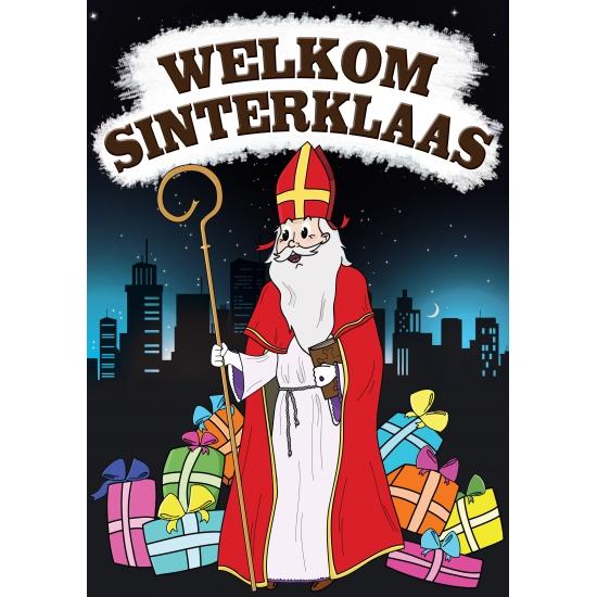 Sinterklaas feestartikelen Shoppartners Sinterklaas versiering poster