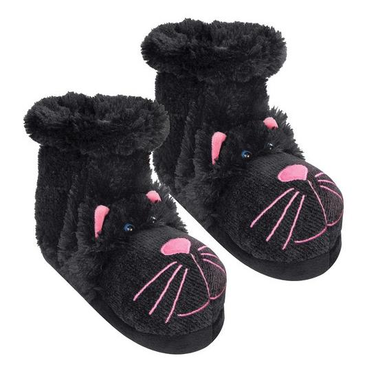 Slof sokken zwarte kat
