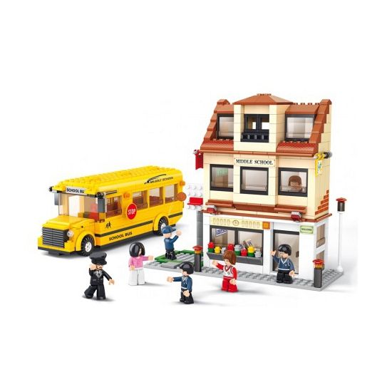 Sluban schoolbus 496 blokjes