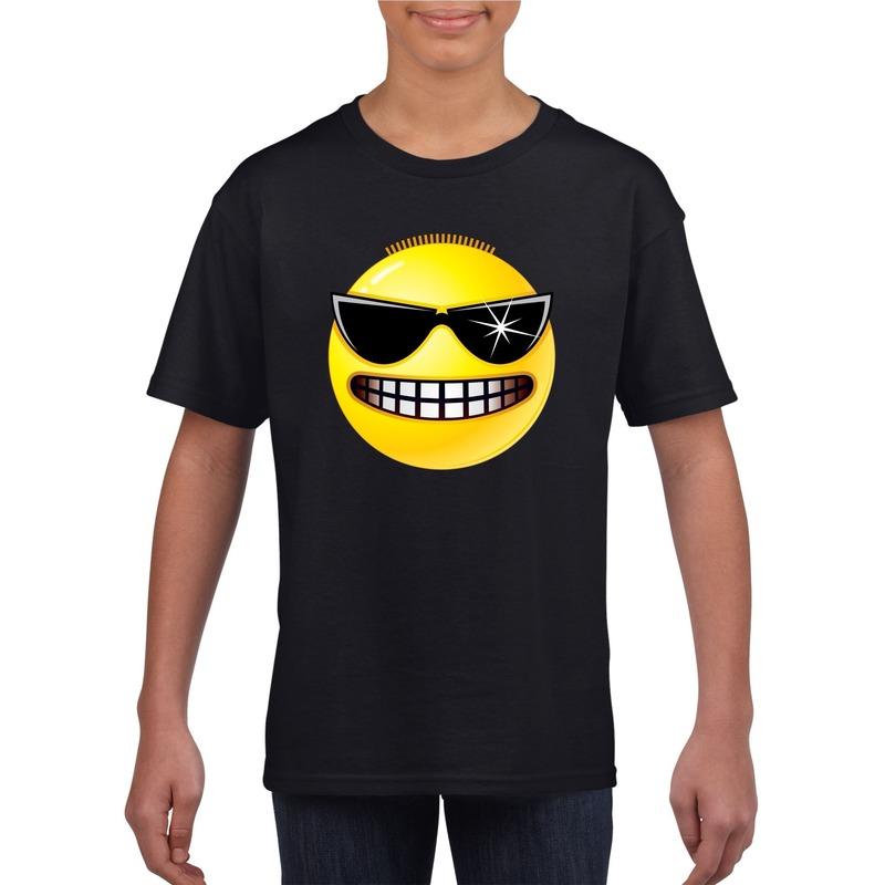 Smiley t-shirt stoer zwart kinderen