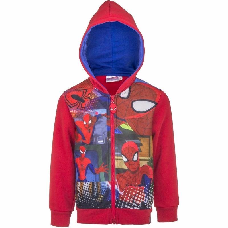 Spiderman kleding jongens vest rood