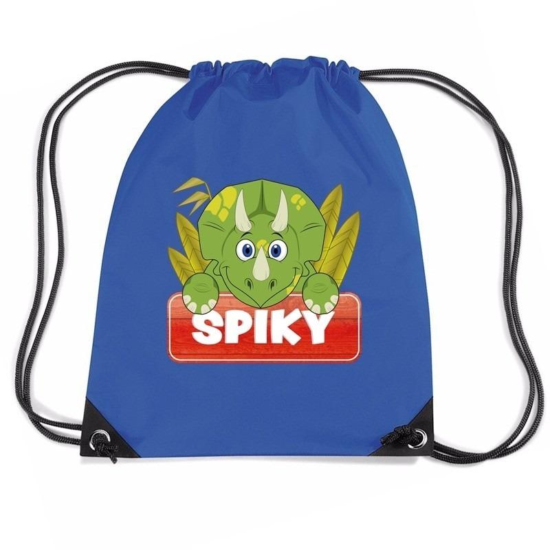 Spiky de dinosaurus rugtas / gymtas blauw voor kinderen