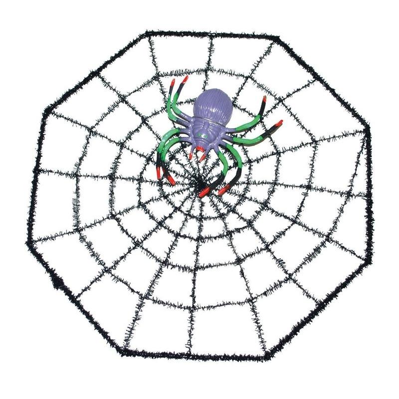 Spinnen horror decoratie 29 x 29 cm