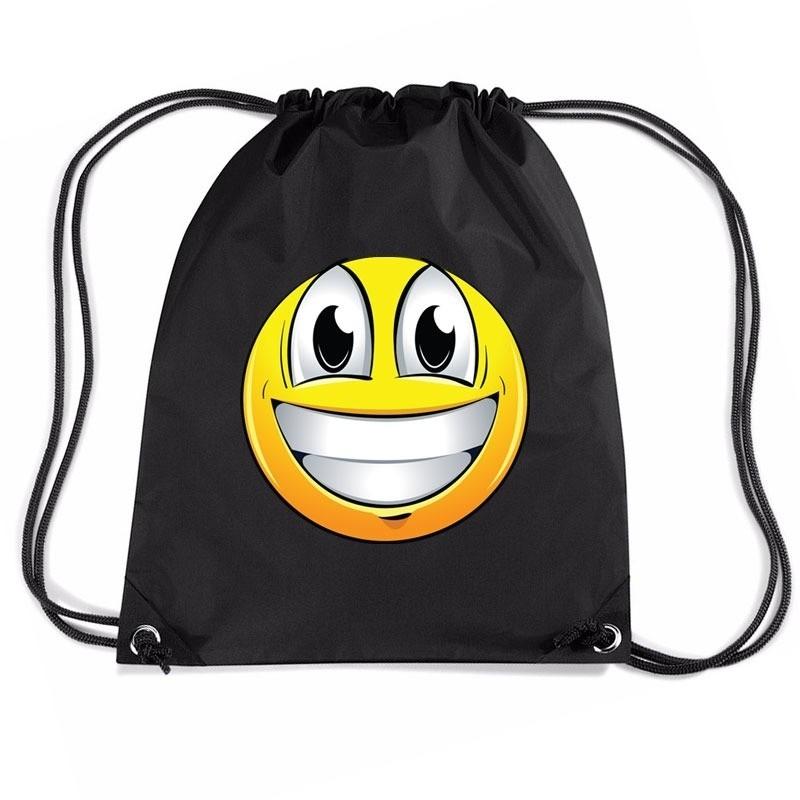 Sporttas met rijgkoord emoticon super vrolijk
