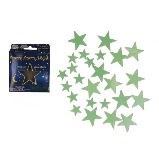 Feestartikelen diversen Geen Sterrenhemel sterren glow in the dark 24 stuks