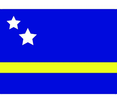 Stickers van de Curacao vlag Shoppartners Landen versiering en vlaggen