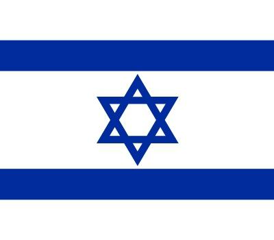 Landen versiering en vlaggen Stickers van de Israel vlag