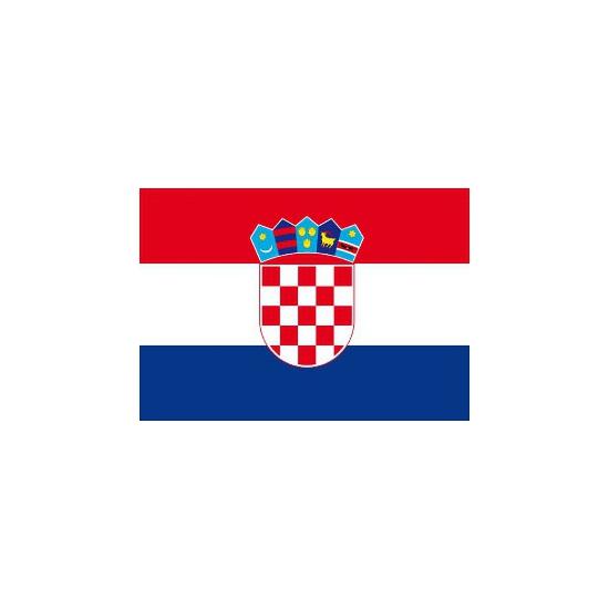 Stickers van de Kroatische vlag Shoppartners Landen versiering en vlaggen