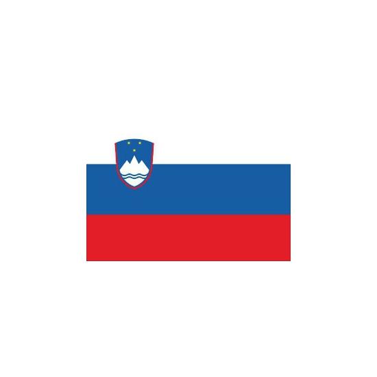 Landen versiering en vlaggen Shoppartners Stickers van de Sloveense vlag