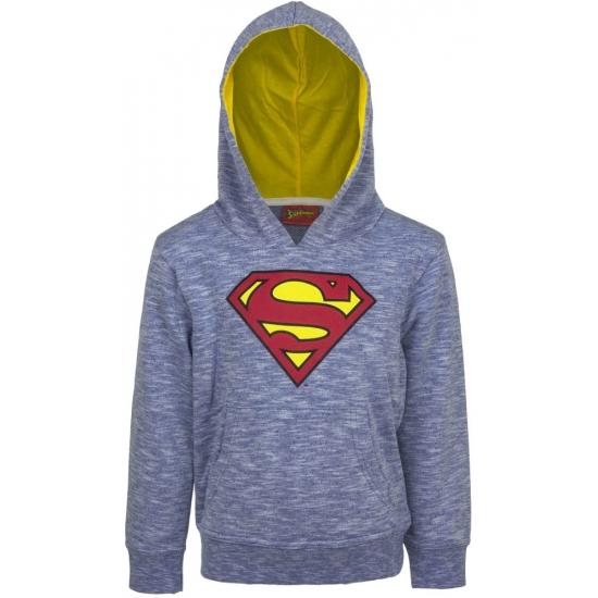 Superman trui blauw met capuchon